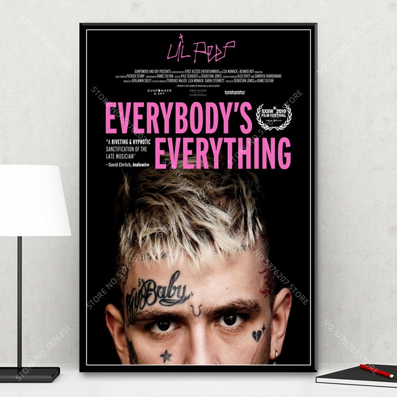 Everybody's Everything Lil Peep Wall Art